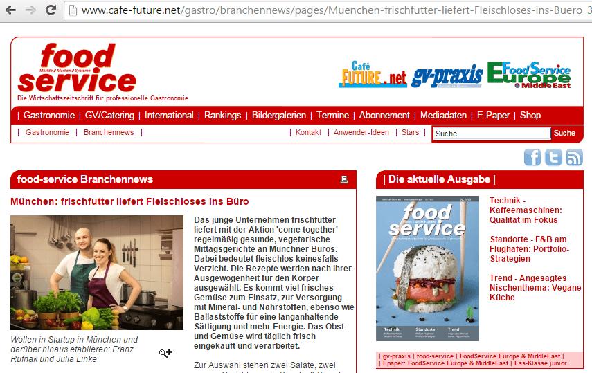 Pressemitteilung auf Cafe Future