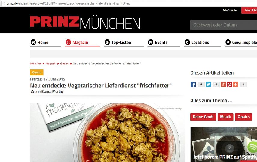 Artikel auf Prinz München
