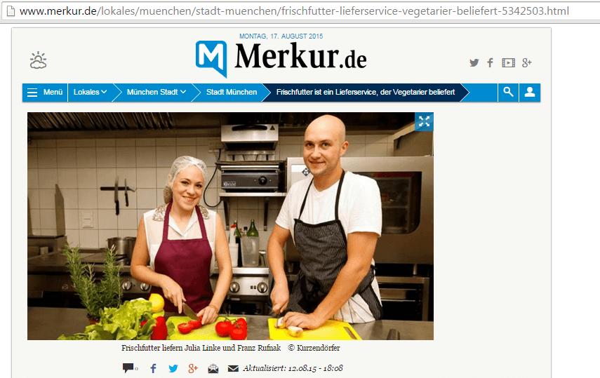 Artikel auf Merkur